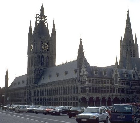 Present-day view of Ypres Cloth Hall